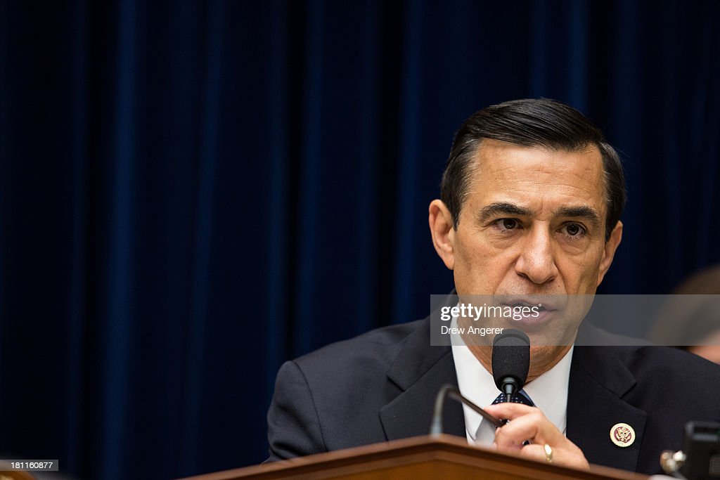 Committee Chairman <a gi-track='captionPersonalityLinkClicked' href=/galleries/search?phrase=Darrell+Issa&family=editorial&specificpeople=2263419 ng-click='$event.stopPropagation()'>Darrell Issa</a> (R-CA) speaks at the start of a House Oversight Committee hearing entitled 'Reviews of the Benghazi Attack and Unanswered Questions,' in the Rayburn House Office Building on Capitol Hill, September 19, 2013 in Washington, DC. Committee Chairman <a gi-track='captionPersonalityLinkClicked' href=/galleries/search?phrase=Darrell+Issa&family=editorial&specificpeople=2263419 ng-click='$event.stopPropagation()'>Darrell Issa</a> (R-CA) is continuing to lead the GOP investigation of the Sept. 11, 2012, assaults that killed U.S. Ambassador J. Christopher Stevens and three other Americans at the U.S. Consulate in Benghazi, Libya.