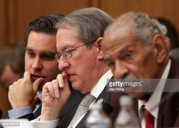 Committee Chairman Rep Bob Goodlatte and ranking member Rep John Conyers participate in a markup hearing before the House Judiciary Committee March...