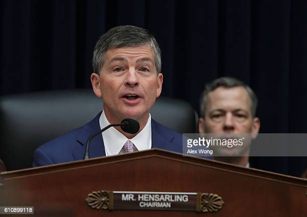 Committee chairman Rep Jeb Hensarling speaks a hearing before the House Financial Services Committee September 28 2016 on Capitol Hill in Washington...