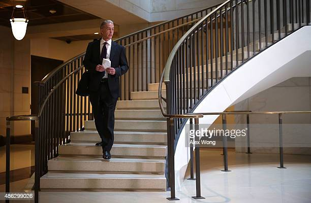 Committee chairman Rep Trey Gowdy arrives for a closeddoor deposition before the House Select Committee on Benghazi September 3 2015 on Capitol Hill...