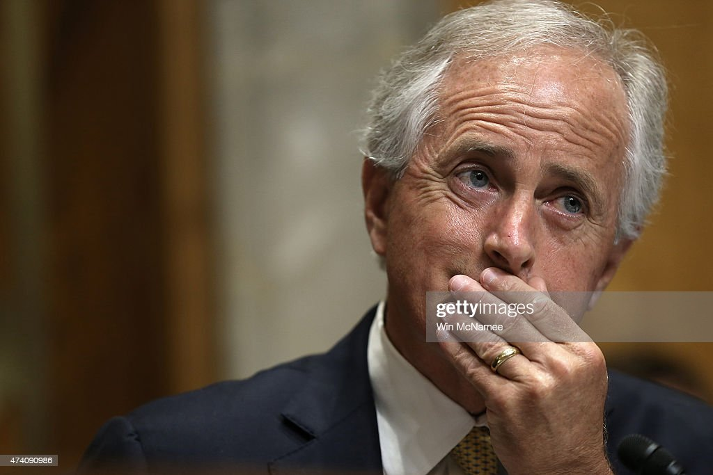 Committee Chairman Sen. <a gi-track='captionPersonalityLinkClicked' href=/galleries/search?phrase=Bob+Corker&family=editorial&specificpeople=3986296 ng-click='$event.stopPropagation()'>Bob Corker</a> (R-TN) listens as Assistant U.S. Secretary of State for Western Hemisphere Affairs Roberta Jacobson testifies before the Senate Foreign Relations Committee May 20, 2015 in Washington, DC. The committee heard testimony on the topic of 'U.S. Cuban Relations - The Way Forward.'