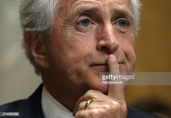 Committee Chairman Sen Bob Corker listens as Assistant US Secretary of State for Western Hemisphere Affairs Roberta Jacobson testifies before the...