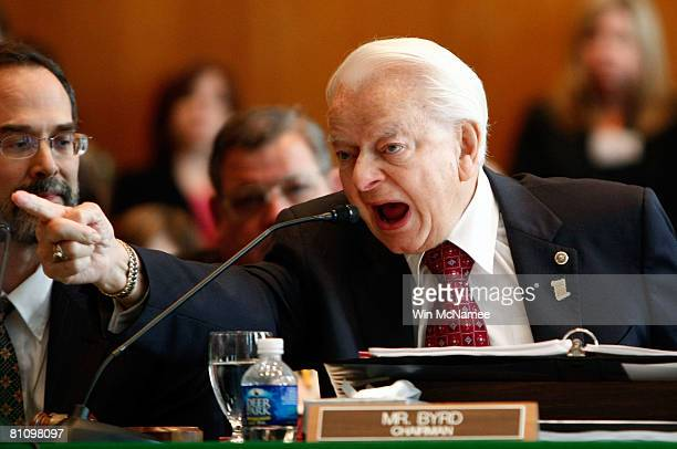 Committee Chairman Sen Robert Byrd delivers his opening remarks before the Senate Appropriations Committee's full committee markup of the FY2008...