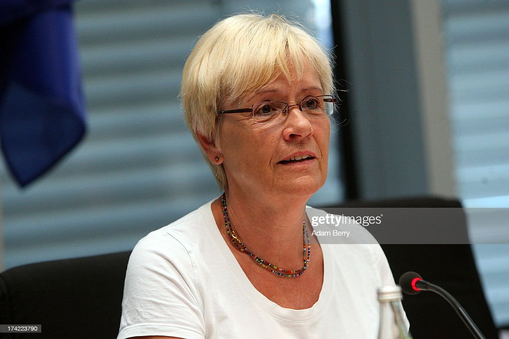 Committee Chairwoman Susanne Kastner attends the first parliamentary inquiry witness hearing into the failed Euro Hawk drone project on July 22, 2013 in Berlin, Germany. The German government canceleLd the military project, which has already consumed EUR 562 million (USD 739 million) due to complications with domestic flight certification. The parliament is expected to interview military and government officials as well as senior executives from Northrop Grumman and European Aeronautic Defence and Space Company N.V. (EADS), producers of the drones, on the matter before reporting its results in September. The affair has put pressure on German Defense Minister Thomas de Maiziere prior to elections the same month.