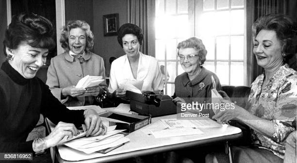 Committee Mails Notices of Sour Belle Banquet Feb 6 Committee members are from left Mrs John A Wolfe chairman of Fort Collins Colo and Mrs WL Gordon...