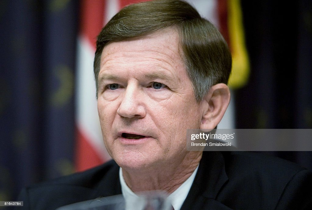 Committee ranking member Representative Lamar Smith (R-TX)speaks during a hearing of the House Judiciary Committee on Capitol Hill June 20, 2008 in Washington, DC. Scott McClellan a former White House press secretary for U.S. President George W. Bush, appeared before the committee to testify about the leak CIA of agent Valerie Plame's identity.