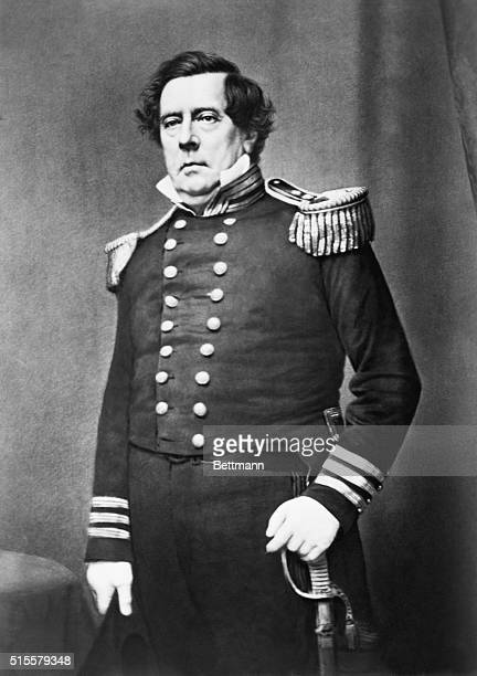 Commodore Matthew Calbraith Perry the man who 'opened Japan' From undated daguerreotype by Mathew Brady
