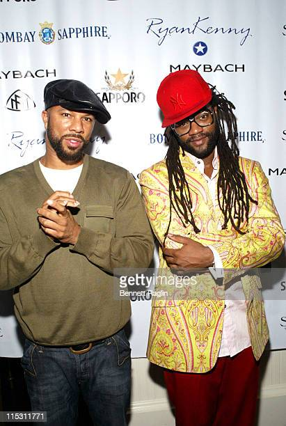 Common and Coltrane Curtis during 2006 MTV Video Music Awards Sapporo Maybach Present Common Famke Janssen's VMA Cookout 2006 at Sky Studios in New...