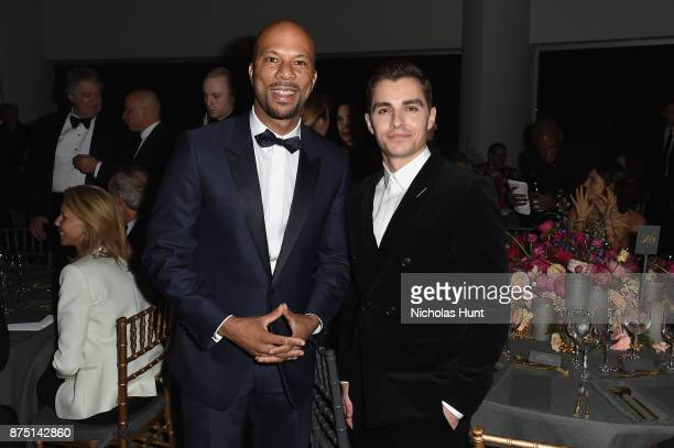 Common and Dave Franco attend the 2017 Guggenheim International Gala made possible by Dior on November 16 2017 in New York City