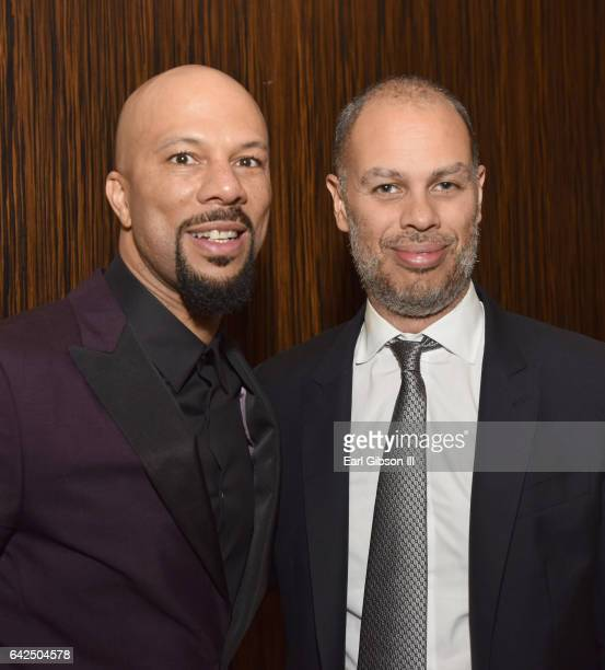 Common and executive producer Jesse Collins attend BET Presents the American Black Film Festival Honors on February 17 2017 in Beverly Hills...