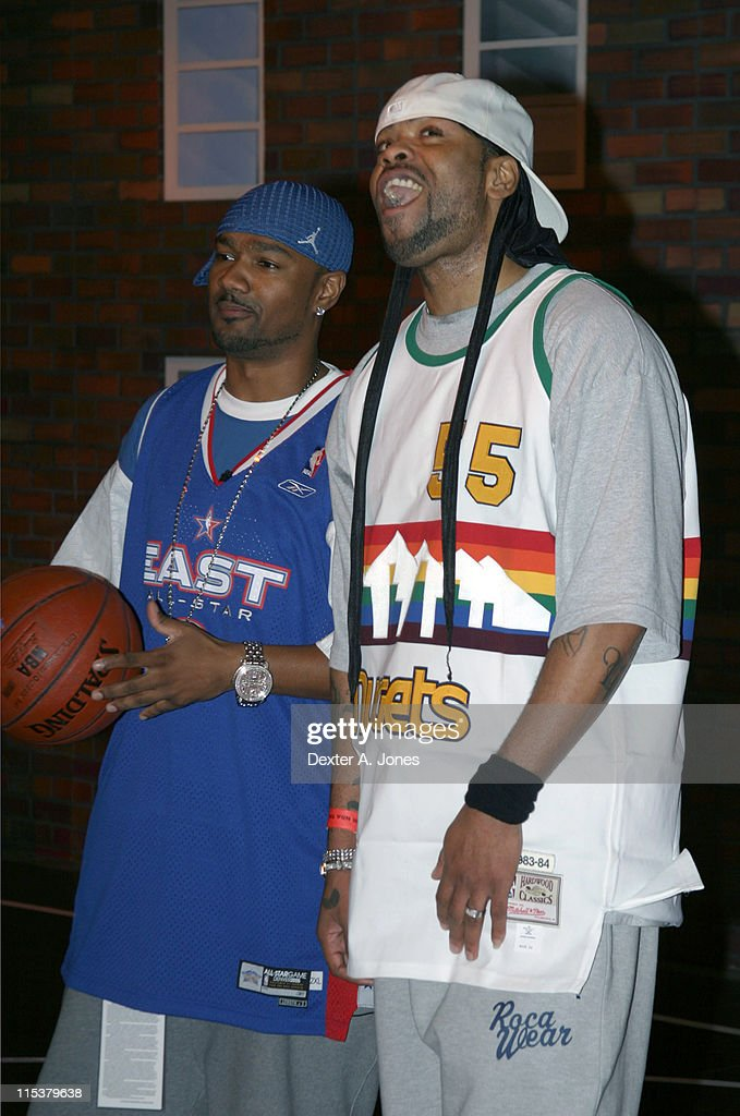 Common and Method Man during BET's Rap City in Denver for All Star Weekend February 18 2005 at Denver Convention Center in Denver Colorado United...