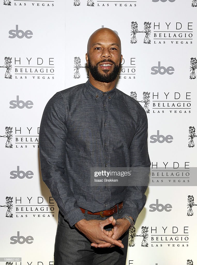 Common arrives at Hyde Bellagio at the Bellagio on New Year's Eve December 31, 2012 in Las Vegas, Nevada.