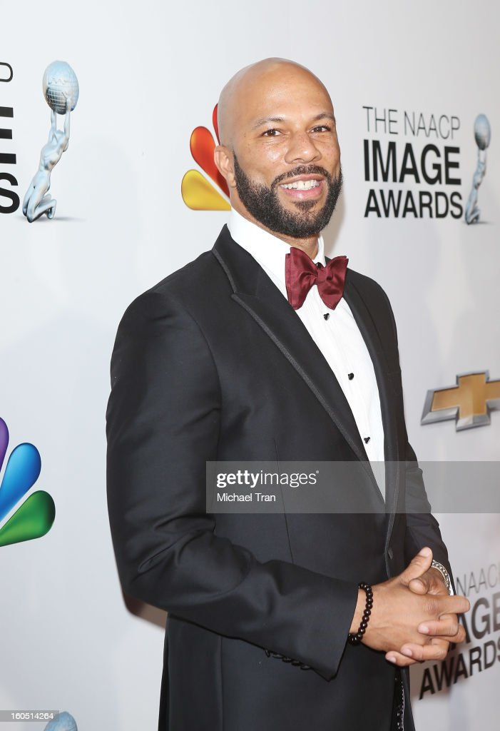 Common arrives at the 44th NAACP Image Awards held at The Shrine Auditorium on February 1, 2013 in Los Angeles, California.