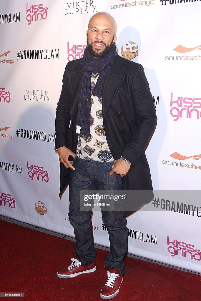 Common attends The 6th Annual Kiss-N-Grind GRAMMY Edition hosted by Common with Vikter Duplaix and music producer The Twilite Tone at Arena Nightclub on February 8, 2013 in Hollywood, California.