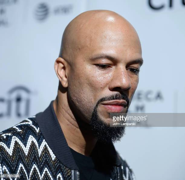 Common attends Tribeca Talks Storytellers Common With Nelson George during the 2017 Tribeca Film Festival at Spring Studios on April 23 2017 in New...