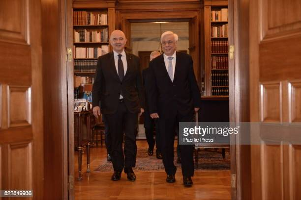 MANSION ATHENS ATTIKI GREECE Common entrance of Pierre Moscovici European Commissioner for Economic and Financial Affairs Taxation and Customs and...
