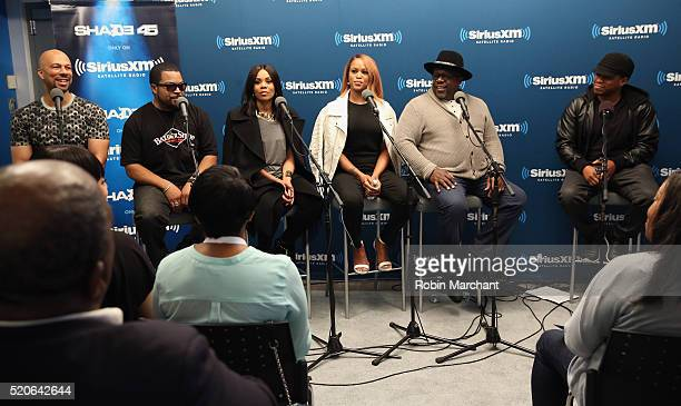 Common Ice Cube Regina Hall Eve Cedric the Entertainer and Sway Calloway attend SiriusXM's 'Town Hall' With The Cast Of 'Barbershop The Next Cut'...