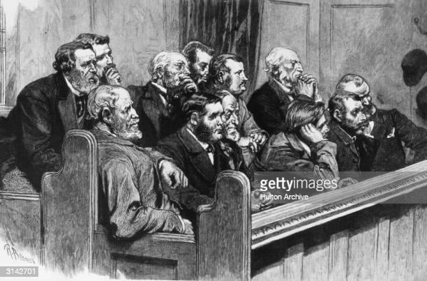 A common jury in the Royal Courts of Justice London