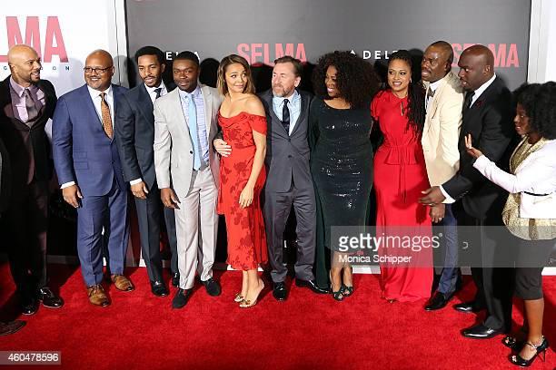 Common Paul Garnes Andre Holland David Oyelowo Carmen Ejogo Tim Roth Oprah Winfrey Ava DuVernay Omar Dorsey and Charity Jordan attend 'Selma' New...