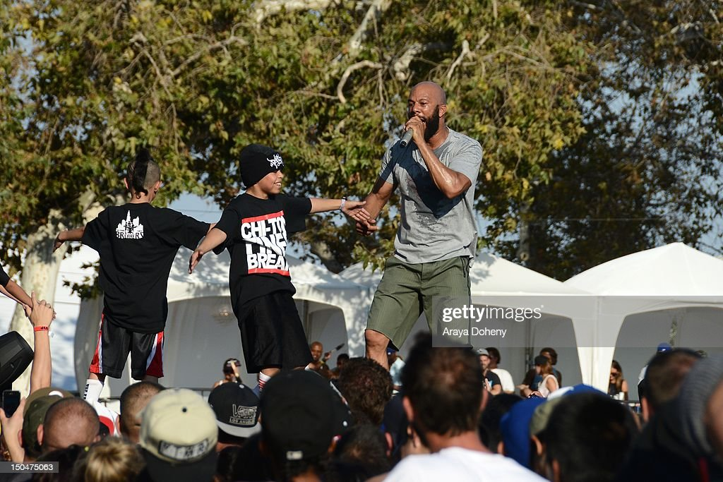 Common performs at Rock The Bells Music Festival at NOS Events Center on August 18, 2012 in San Bernardino, California.