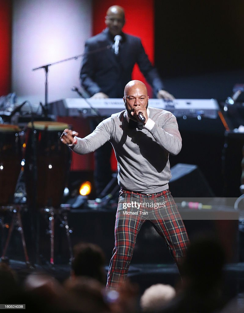 Common performs at the 44th NAACP Image Awards - show held at The Shrine Auditorium on February 1, 2013 in Los Angeles, California.