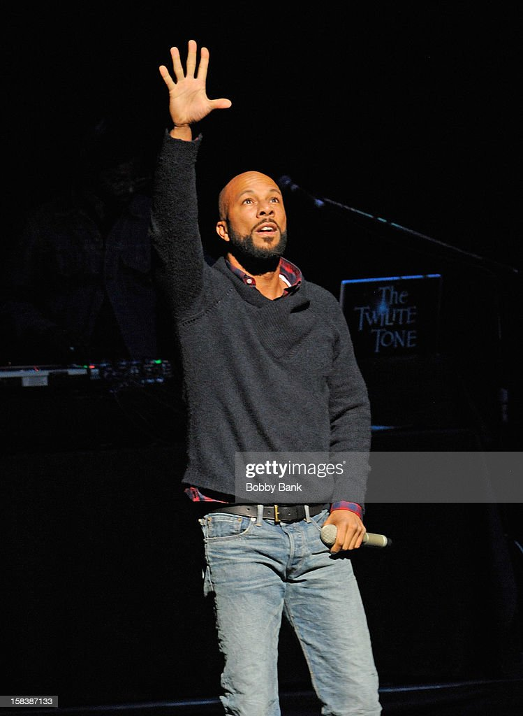 Common performs at the 'Bring Leonard Peltier Home 2012' Concert at The Beacon Theatre on December 14, 2012 in New York City.