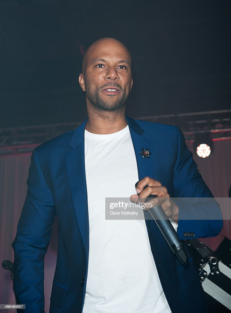 Common performs at the Taste Of The NFL 'Party With A Purpose' at Brooklyn Cruise Terminal on February 1, 2014 in New York City.
