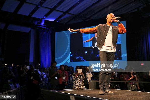 Common performs during the Inspirational Forum at Opportunity Fair and Forum on August 13 2015 in Chicago Illinois