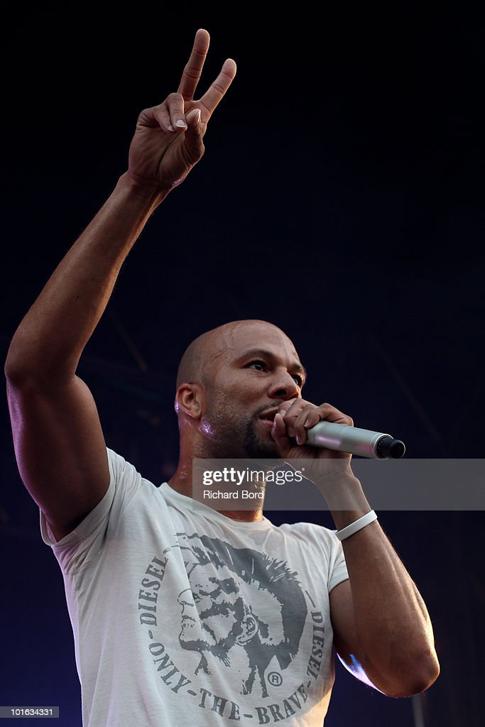 Common performs live during the 'Only The Brave' Block Party 2 at Place Stalingrad on June 4, 2010 in Paris, France.