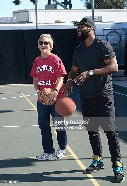 Common Sense Media CEO Jim Steyer and NBA Basketball Player Baron Davis attend the 2nd Annual GameOn fundraiser hosted by Common Sense Media at Sony...