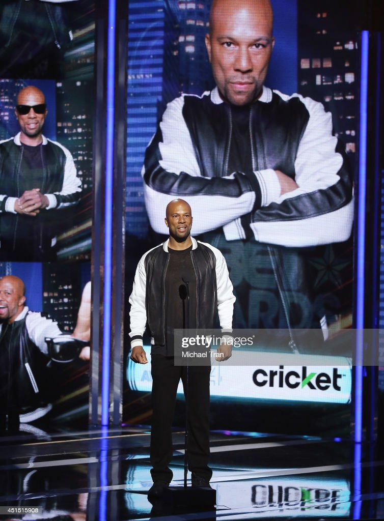 Common speaks onstage during the 'BET AWARDS' 14 held at Nokia Theater L.A. LIVE on June 29, 2014 in Los Angeles, California.