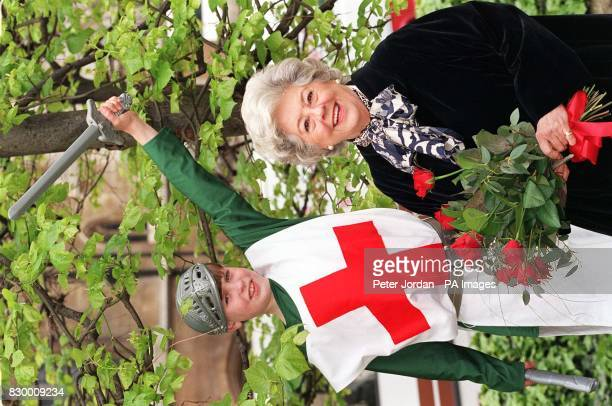 Commons Speaker Betty Boothroyd with Alexander Leighton from East Molesey near Hampton aged 10 during a photocall in London this morning where she...