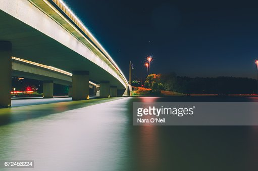 Commonwealth Avenue and Parliament House, Canberra : Foto stock