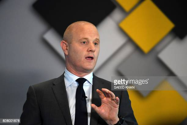 Commonwealth Bank CEO Ian Narev briefs the media regarding the bank's fullyear results in Sydney on August 9 2017 Australia's biggest bank the...