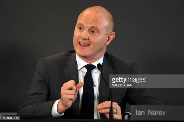 Commonwealth Bank CEO Ian Narev speaks following an announcement on the bank's fullyear results in Sydney on August 9 2017 Australia's biggest bank...