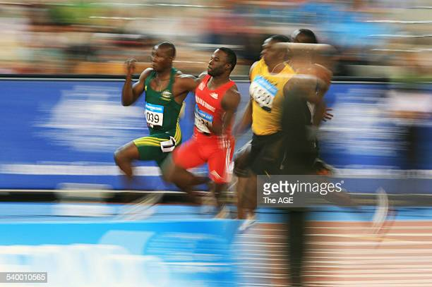 Commonwealth Games 2006 Australia's Ambrose Ezenwa left in action during the heats of the Men's 200m event at the Melbourne Commonwealth Games 22...