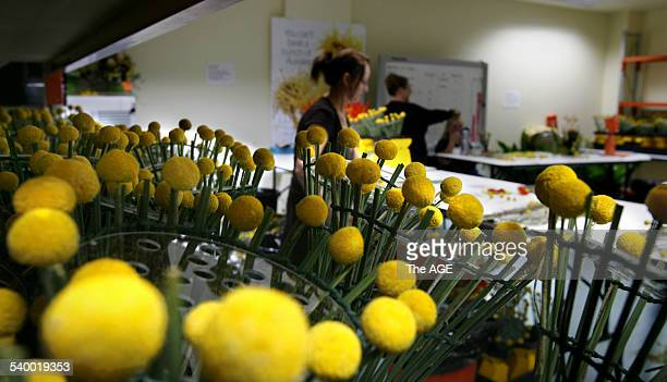 Commonwealth Games 2006 Florists make posies for the Commonwealth Games medal winners at the Interflora workroom in Prahran Melbourne 20 March 2006...