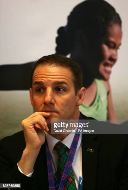 Commonwealth Games Glasgow 2014 chief executive David Grevemberg helps unveil Unicef's new interactive website which teaches children about their...