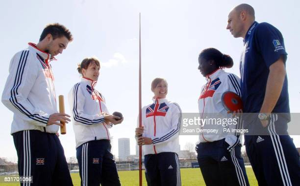 Commonwealth medalists Martyn Rooney Kelly Sotherton Jessica Ennis Christine Ohuruogu and Dean Macey during a photocall at Mile End Leisure Centre...