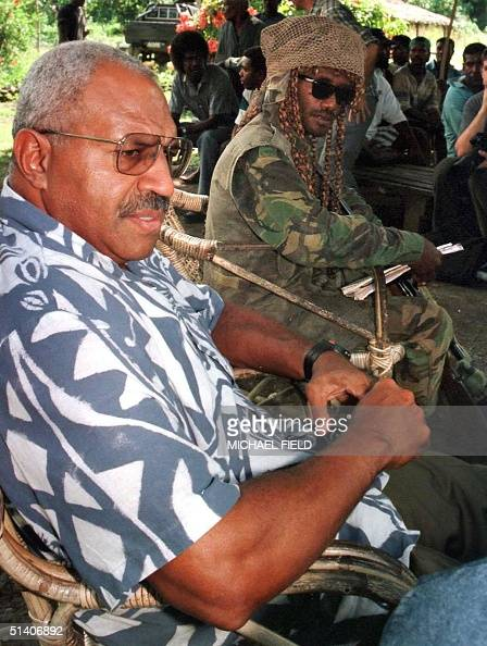 Commonwealth mediator and former Fiji prime minister Sitiveni Rabuka opens peace talks at Mbalisuna Bridge Guadalcanal in the Solomon Islands 24 June...