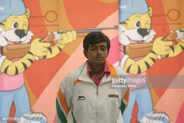 Commonwealth Youth Games 2008 10m Air Pistol Women Gold medalist winner Deepika Patel during the 3rd Commonwealth Youth Games 2008 in Pune on...