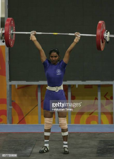 Commonwealth Youth Games 2008 Weightlifter Diksha Gaikwad sets a new Commonwealth record in women's clean and jerk weightlifting in 48kg category at...