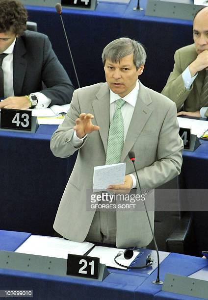 EU commssioner for Agriculture and Rural Development Dacian Ciolos answers questions during the morning session on the future of the Common...