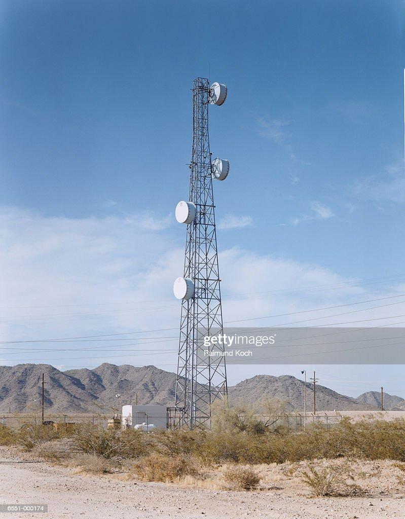Communication Tower in Desert