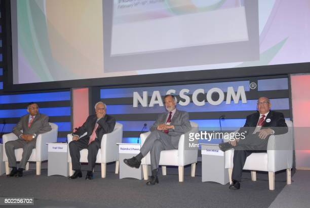Communications and information technology minister Kapil Sibal along with other distinguish guests at the threeday Nasscom India Leadership Forum...