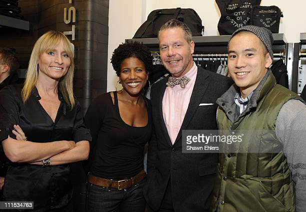 Communications manager of North America Caroline Sodenkamp Kendall Griffin Michael Macko Fashion Director at Details and Eugene Tong Market Editor at...