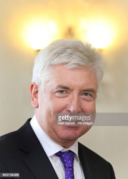 Communications Minister Alex White as he received his Ministerial seal of Office at Aras an Uachtarain Dublin after today's cabinet reshuffle as the...
