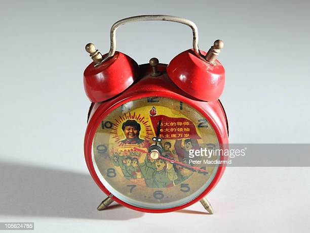 A communist alarm clock belonging to Alan Yentob is displayed at The Wellcome Collection's 'Things' Exhibition on October 16 2010 in London England...