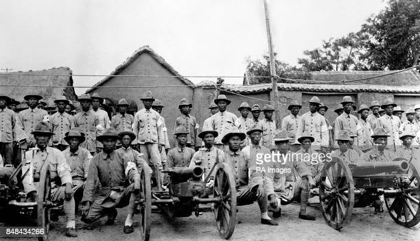 Communist artillerymen who surrendered with their guns and joined the Nationalist Army
