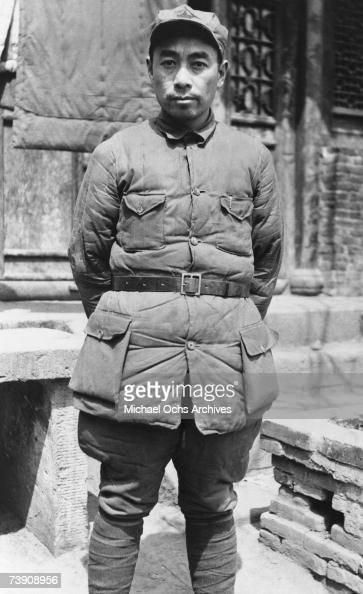 Communist rebel leader Chou Enlai poses for a portrait circa 1938 in China